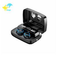 Vitog 2000mah LED M9 TWS 5.0 블루투스 무선 이어폰 이어폰 터치 컨트롤 스포츠 헤드폰 소음 취소