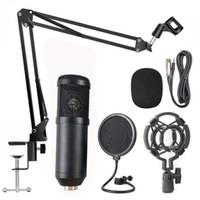BM800 Condenser Mikrofon Bilgisayar Stüdyo Profesyoneller için Kablolu Standı Mic PC Karaoke Dizüstü Kayıt