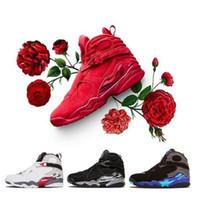 Venta al por mayor 2021 NUEVO 8 insectos alternativos Bunny 8s Black Chrome Men Mujeres Zapatos de baloncesto Aqua VIII Three Peat Athletic Sneakers Zapatos