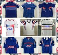 1982 1984 1998 2000 2002 2006 Francescoli World Cup Retro Soccer Jersey 1996 Zidane # 10 Home Jersey Henry Vintage Clásico Vieja camisa de fútbol