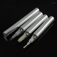 أعلى درجة 5 مل تويست القلم حاوية مستحضرات التجميل فارغة الفضة الألومنيوم أنبوب الشفاه المخفي إعادة الملء التعبئة والتغليف مربع 1