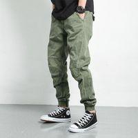 Elástica cintura macacão homens inverno espessado calças casuais ao ar livre escalada Combate solto jogging leggings longos calças longas