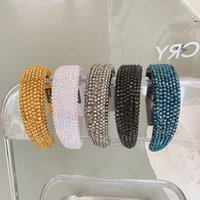 Stile classico Full Rhinestone Fands Fashion Vintage Donne Sport Capelli Bands Baroque Girls Hairbands 8 Colors
