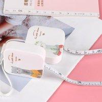 Herramientas de nociones de costura 150 cm cinta métrica portátil regla retráctil niños altura de altura centímetro pulgada roll girls regalos de cuero