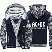 ACDC ROCK BAND MUSIQUE Lettre de musique Capuche d'hiver Caputin d'hiver Veste Lâche Hoodie Vintage Punk Hoody Harajuku Hommes Vêtements LJ201222