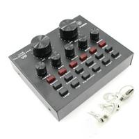 V8 V8 Live Sound Scheda audio ESTERNO USB Headset Headset Microfono K Song Broadcast Broadcast Scheda audio per il telefono cellulare PC BM 800