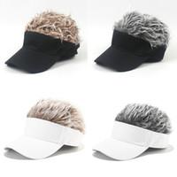 2020 패션 유니섹스 가발 야구 모자 크리 에이 티브 남자 스포츠 캠핑 모자 야외 여성 여행 태양 모자