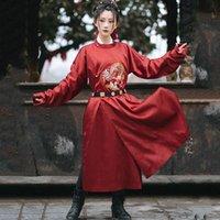 Stage Wear Chinese Drama Drama Tang Dynasty Neck Collo lungo Robe Costumi da ballo popolari tradizionali quotidiano Hanfu Mostra costume Uomini e donne