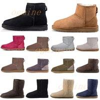 2021 Klasik Avustralya Wgg Kadın Platformu Bayan Boot Girls Lady BaileyuggsYay Kış Kar Yarım Diz Avustralya Çizmeler 36-41 8C03 #