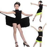 Mädchen Junior Latin Tanzkleid Fransen Salsa Ballsaal Kleid Kinder Moderne Show Fall Performance Dance Wear1
