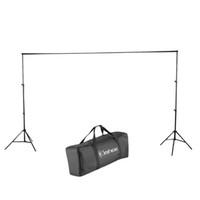 6.6ft x 9.8FT Verstelbare achtergrond Ondersteuning Stand 2x3m Photography Foto Video Achtergrond Stand Kit voor Moslins Achtergronden Zwart Gratis Verzending