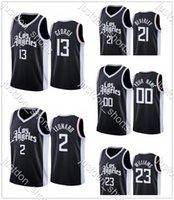 Juventud Lou Williams 23 Paul George 13 Kawhi Leonard 2 Beverley 21 Hot Press City New Edition Jerseys Camisetas Camisetas
