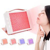 5 Renk LED Işık Terapi Yüz Güzellik Makinesi LED Yüz Boyun Maskesi Cilt Beyazlatma Cihazı DHL Ücretsiz Gönderi için Mikroklu