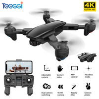 TEEGGI SG701 SG701S GPS RC DRONE mit 5G WiFi FPV 4K HD-Kamera Quadcopter optischer Durchfluss Faltbarer Mini-DRON VS E520S SG907 F3 S167 LJ200827