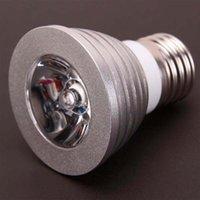Nuovo design E27 3W 85V-265V Telecomando a 16 colori Dimmable Faretto a LED Dimmable Nuovo e alta qualità Spotlight LED High Lumining Lighting