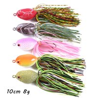 5 Color Mixed 10cm 8g 3D Eyes Frog Hard Baits & Lures Fishing Hooks 6# Hook Pesca Fishing Tackle BL_284