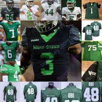 North Texas Und bedeuten grüne Fußball Jersey NCAA College Jyaire kürzer Cedrick Hardman Jason Bohnen Aeune Adaway III Greg weiß Simpson Davis
