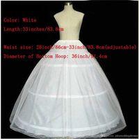Sıcak Satış 2021 YENI Bir Çizgi Balo 3 Hoops Beyaz Gelin Petticoat ile Dantel Kenar Düğün Etek Kayma Crinoline Q05