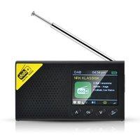 Portable Bluetooth radio numérique DAB / DAB + et récepteur FM rechargeable légère Accueil Radio