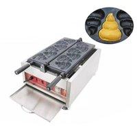 Ekmek Makineleri Ticari Kore Poo Şekilli Waffle Makinesi Taiyaki Makinesi Elektrikli Snack Ekipmanları Yapma