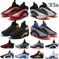 35 35s Jumpman Mens Basketballschuhe Sneakers Fragment Center der Schwerkraft Krieger Schwesterhood Bayou Jungen Silber XXXV Scarpe Trainer Schuhe