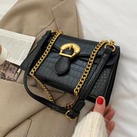 Crocodile pattern Square Crossbody bag 2021 New High-quality PU Leather Women's Designer Handbag Chain Shoulder Messenger Bag