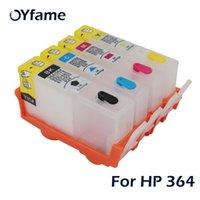 Oyfame 4pcs pour une cartouche d'encre 364 avec une puce permanente pour la cartouche 364xl B109A B110A B110C B110E B209A 7510