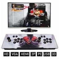 Nostalgic Host Home Game Pandora 3D ألعاب الفيديو وحدة مربع آلة 1280 * 720P 32 جيجابايت مزدوجة الممرات المقود مع المتكلم HDMI VGA الإخراج