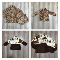 Girlymax Fall / Winter Traje Bebé Mamá Mami Abrigo adulto Leopardo Vaca Vaca Cotonera Ropa de algodón Niños Pullover Top Algodón Boutique1