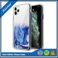 Fließgold schimmernde pulver handy shell für iphone 12 7 8plus x x shimming pounde shell schutzhülle fema für iphone xr xs max