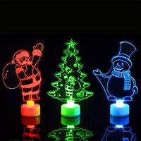 Led Noel Süsleri Işık Akrilik Masa Yanıp sönen Night Lights Noel Baba Noel ağacı Noel hediyeleri XD21176 için