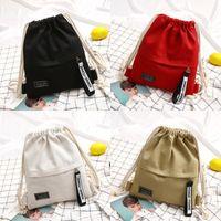 패션 캔버스 Drawstring 배낭 가방 Cinch Sack 유행 액세서리 휴대용 캐주얼 문자열 Sackpack Rucksacks 155 K2