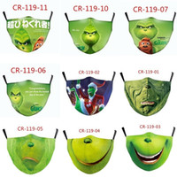 Grinch Stole Christmas 3D Print Cosplay face Masks reusable ...