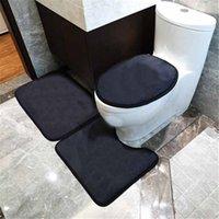 3 peças mats do banheiro definem tampa do assento do vaso sanitário de alta qualidade toalete tapete antiderrapante tapete de banho absorvente
