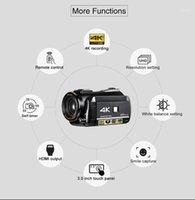 Caméra vidéo numérique WIFI Ordro UHD 4K avec écran tactile 3.0 '' WIFI Night Vision Night Visionnage Numérique Caméscope Microphone Lens1