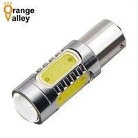 50 قطع 1156 BA15S 7506 cob led سيارة السيارات بدوره إشارة أضواء النسخ الاحتياطي عكس لمبة مصباح الضباب 10-30 فولت P21W 12498 العنبر الأبيض 1