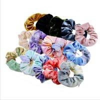 Krawatten-Farbstoff-Haarband Samt Stirnband Mädchen Kinder Große Darm Pferdeschwanzhalter Haarbänder Kinder Haarschmuck ZYY229