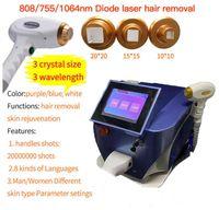 3 Wellenlänge Portable 808 Diodenlaser Schönheit Maschine zur Haarentfernung mit 20 Millionen Schüsse