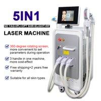Opt SHR LAER Eliminación de cabello Láser IPL Elight Machine de rejuvenecimiento de la piel ND YAG Láser Equipo de belleza IPL Máquina láser