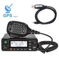 Walkie Talkie Tyt MD-9600 듀얼 밴드 136-174MHz 400-480MHz 디지털 모바일 라디오 50 / 45 / 25W 고품질 DMR + 1 프로그래밍 케이블