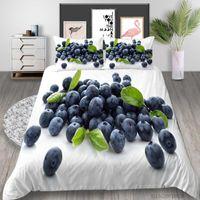 3D роскошные постельное белье набор черники свежие фрукты печати король размер одеяла набор набор наволочки наволочки детские взрослые дома декор 2/3 шт.