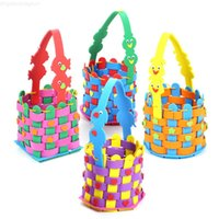 هالوين اليدوية سلة حزمة الحلوى إيفا المنسوجة الحضانة المواد المواد الأطفال اليد لصق إنتاج طفل لعب هدية