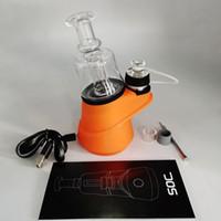 Soc concentrar vaporizador de cera 2600mah kits de partida de cera vape mods controle de temperatura atomizador equipamento de água de vidro shatter budder cabber plataformas
