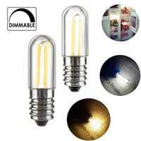 MINI Ampoules à LED Dimmable Réfrigérateur Filament Filament Filament E14 E12 1W 2W 4W COB Lampe blanche