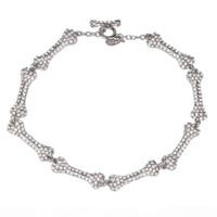 다이아몬드가 가득한 다이아몬드가 가득한 8 개의 섹션 뼈 목걸이 다이아몬드 5 섹션 뼈 토성 목걸이 유럽과 미국 펑크