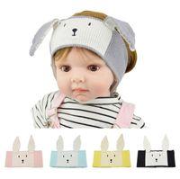Páscoa Unicórnio Kids Dos Desenhos Animados Malha Headband Quente Newborn Cute Coelho Ouvido Headwrap Adorável Inverno Inverno De Tricô Headwear E121804