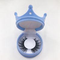 Neueste Kronen Wimpernkiste mit natürlichem sibirischer echter Nerz-Wimpern Private benutzerdefinierte Label 16mm 20mm 22mm Nerz Wimpern Rabatt Deal