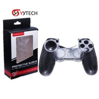 Syytech protetora transparente transparente Cristal Duro Capas de Escudo para PS4 Controlador PlayStation 4 Acessórios Substituição