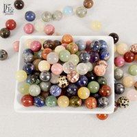 100g Kristal Topları Doğal Taşlar ve Mineraller Küre Feng Shui Doğal Taş Şifa Çakra El Masaj Topları T200117
