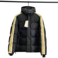 حار بيع الرجال أزياء أسفل معطف الشتاء رجل جاكيتات طويلة الأكمام إلكتروني مطبوعة مع مقنع الرجال النساء أزياء الملابس ستر الحجم S-XL